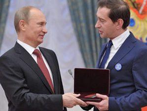 Путин и Хабенский, фото с сайта Лента.Ру