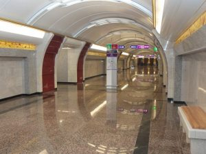 """Станция метро """"Бухарестская"""", фото пресс-службы Смольного"""