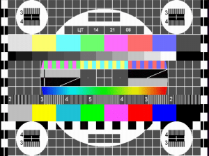 Настроечная таблица - телевизор