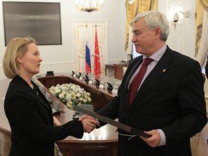 Полтавченко и Тулокас, фото пресс-службы Смольного