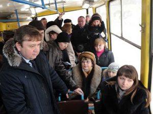 автобус час пик