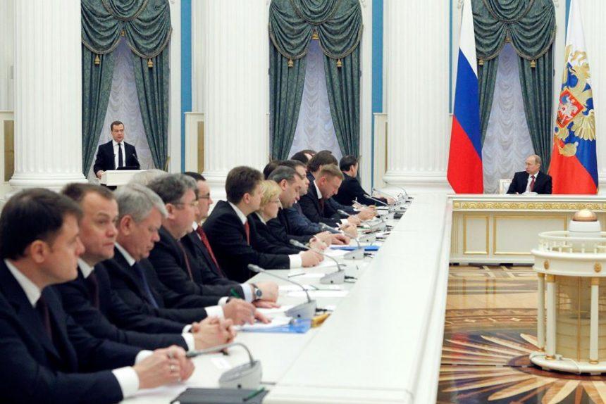 Дмитрий Медведев, Владимир Путин, заседание правительства, фото пресс-службы белого дома