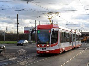 Челночный трамвай, фото пресс-службы Смольного