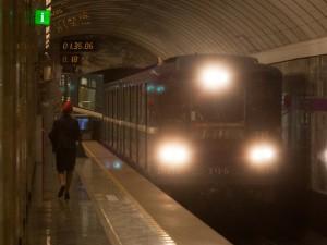 ночное метро, фото сергей калинкин