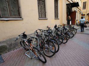 велосипеды, велопарковки, фото пресс-службы Смольного