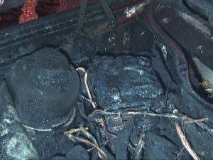 сгоревшая машина, фото МЧС