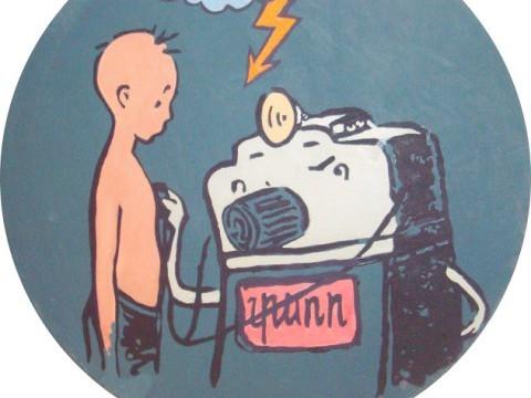 Аркадий Насонов Из серии Диктатура формы 1, 2009, холст, масло, D 50 cм