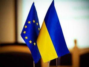 флаги украина и евросоюз ес