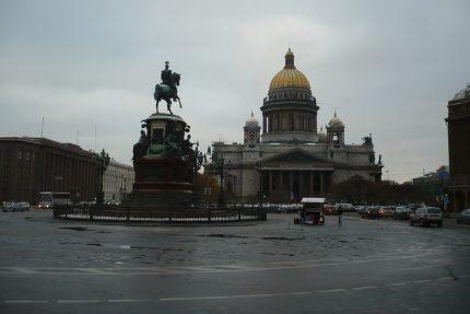 петербург пасмурно облачно Исаакиевская площадь, Исаакиевский собор