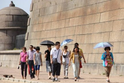 жара пляж туристы петропавловка