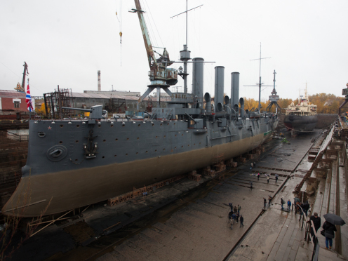 УФАС возбудило семь дел после проверки ремонта крейсера «Аврора»