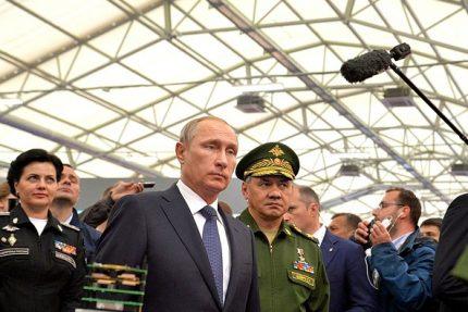 путин и шойгу на форуме армия-2015 оборона