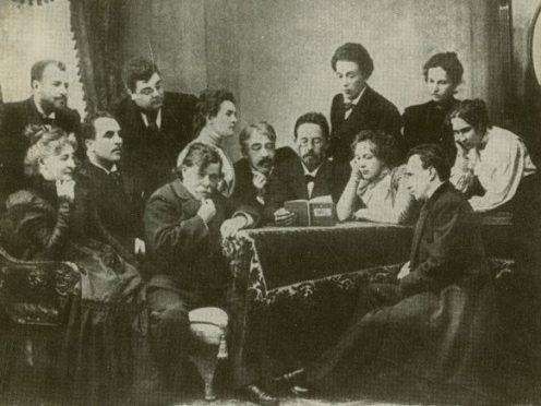 "Чехов читает ""Чайку"" артистам МХТ, 1899 год"