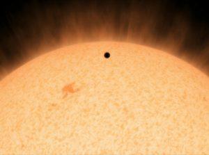 HD 219134b на фоне своей звезды, изображение NASA