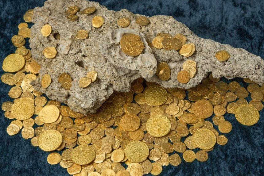 испанский клад во флориде, золотые монеты, сокровища, археология