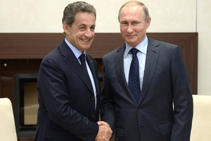 путин и саркози