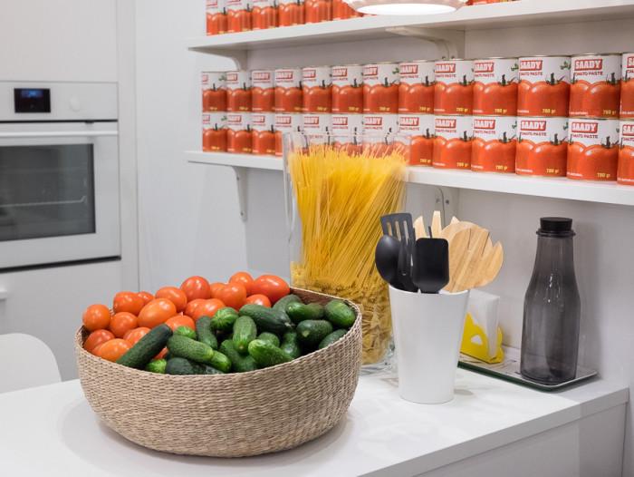 ресторан еда кулинария икеа вместокафе новые идеи есть огурцы помидоры