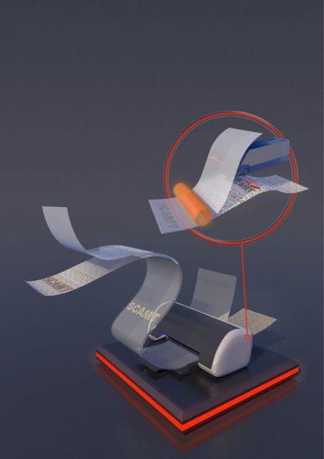 голограмма, распечатанная на струйном принтере