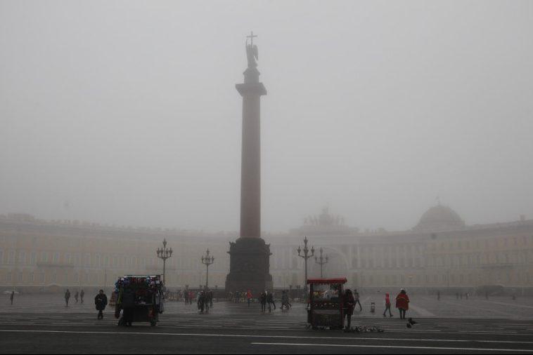туман петербург дворцовая площадь
