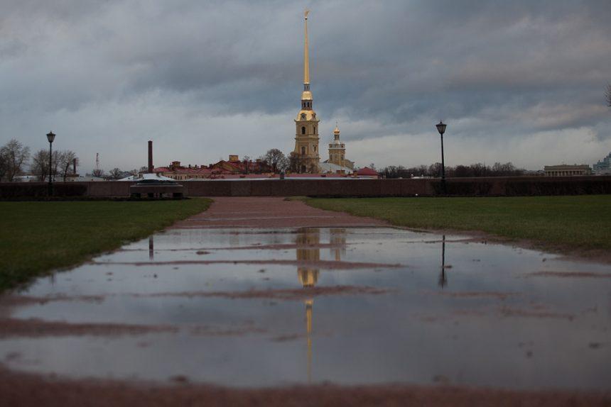 петропавловская крепость петербург дождь