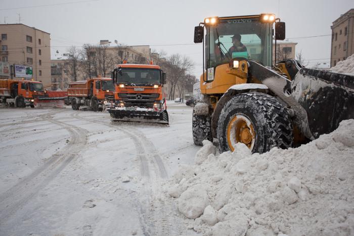 снег зима в петербурге уборка снега