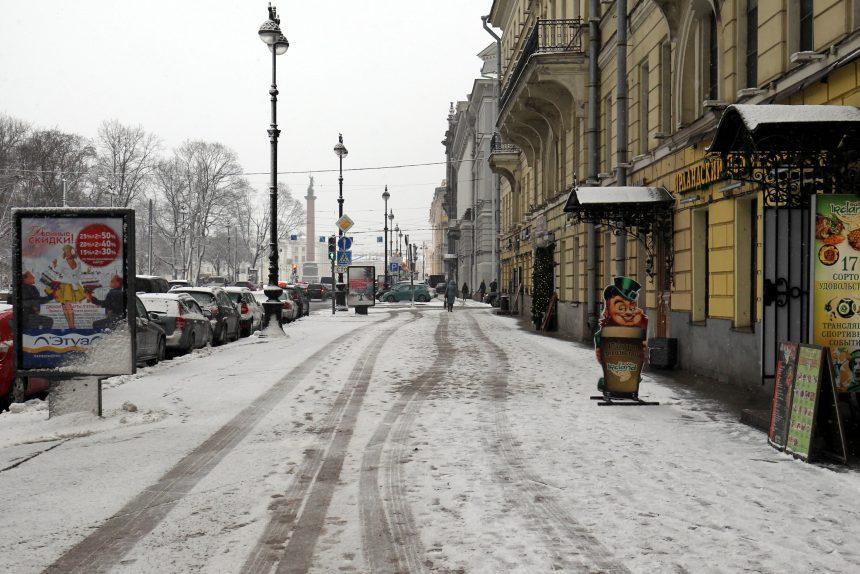 снег снегопад тротуар адмиралтейский проспект