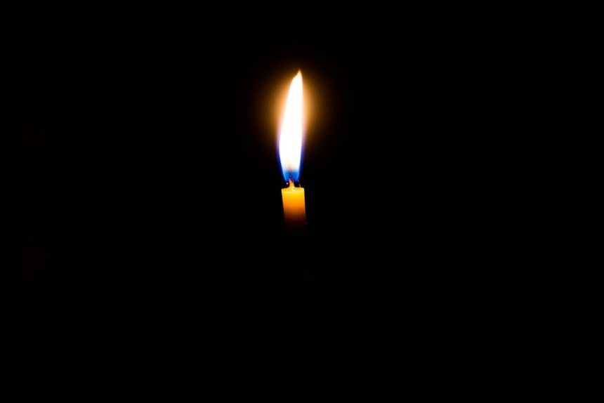 свеча, скорбь
