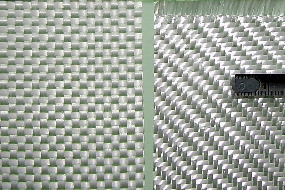 Стекловолокно разного плетения. Фото с сайта wikipedia.org
