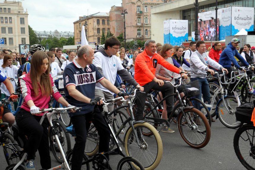 большой велопарад 2016 велосипедисты велодвижение вице-губернатор игорь албин