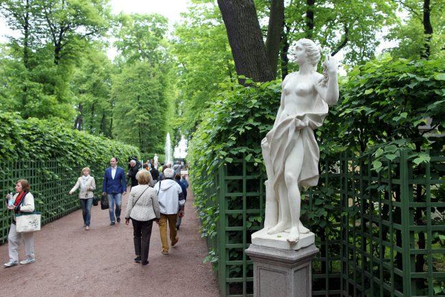 фонтаны летний сад скульптуры статуи