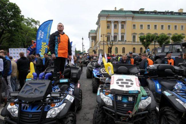 старт трофи-рейда ладога 2016 автоспорт гонки ралли исаакиевская площадь квадроцикл