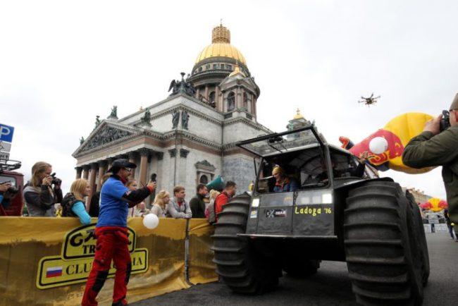 старт трофи-рейда ладога 2016 автоспорт гонки ралли исаакиевская площадь вездеход