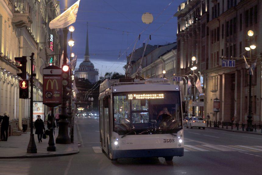 троллейбус 10 горэлектротранс невский проспект