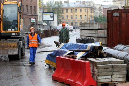 дорожные работы ремонт теплотрассы Тульская улица