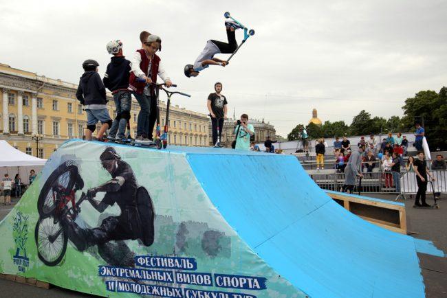 фестиваль экстремального спорта и молодёжных субкультур дворцовая площадь велоспорт самокат