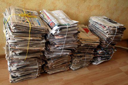 упаковка вторсырьё макулатура бумага газеты мусор отходы раздельный сбор переработка экология
