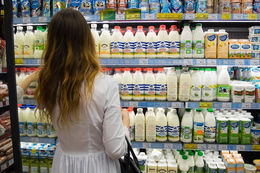магазин супермаркет молочные продукты молоко покупки торговля