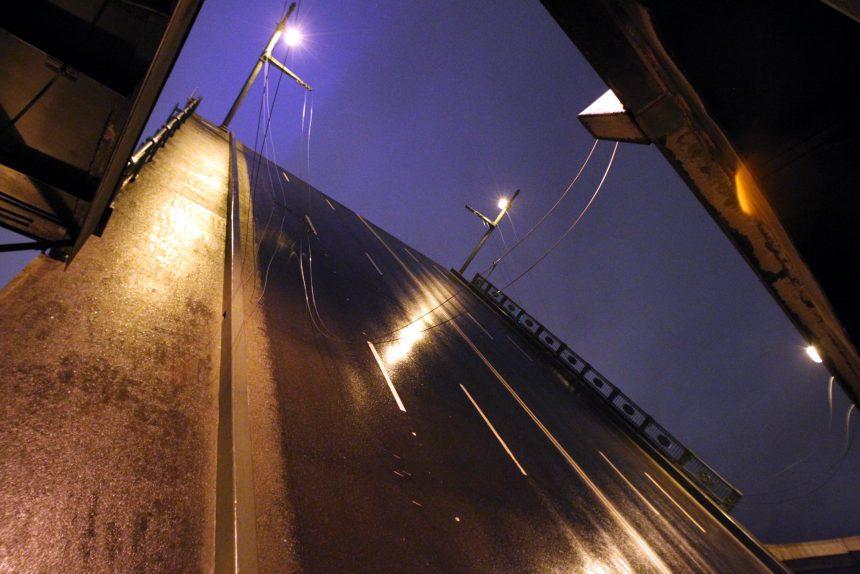 развод мостов Дворцовый мост разведённый
