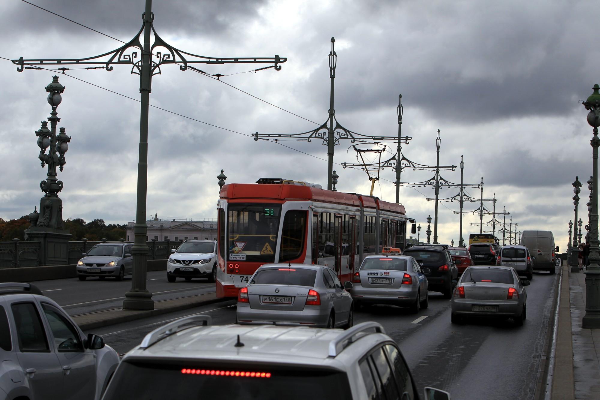 троицкий мост челночный трамвай 3а