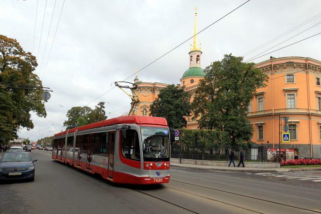 Садовая улица челночный трамвай 3а Инженерный Замок