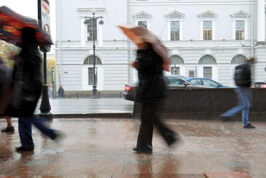 дождь зонтики невский проспект