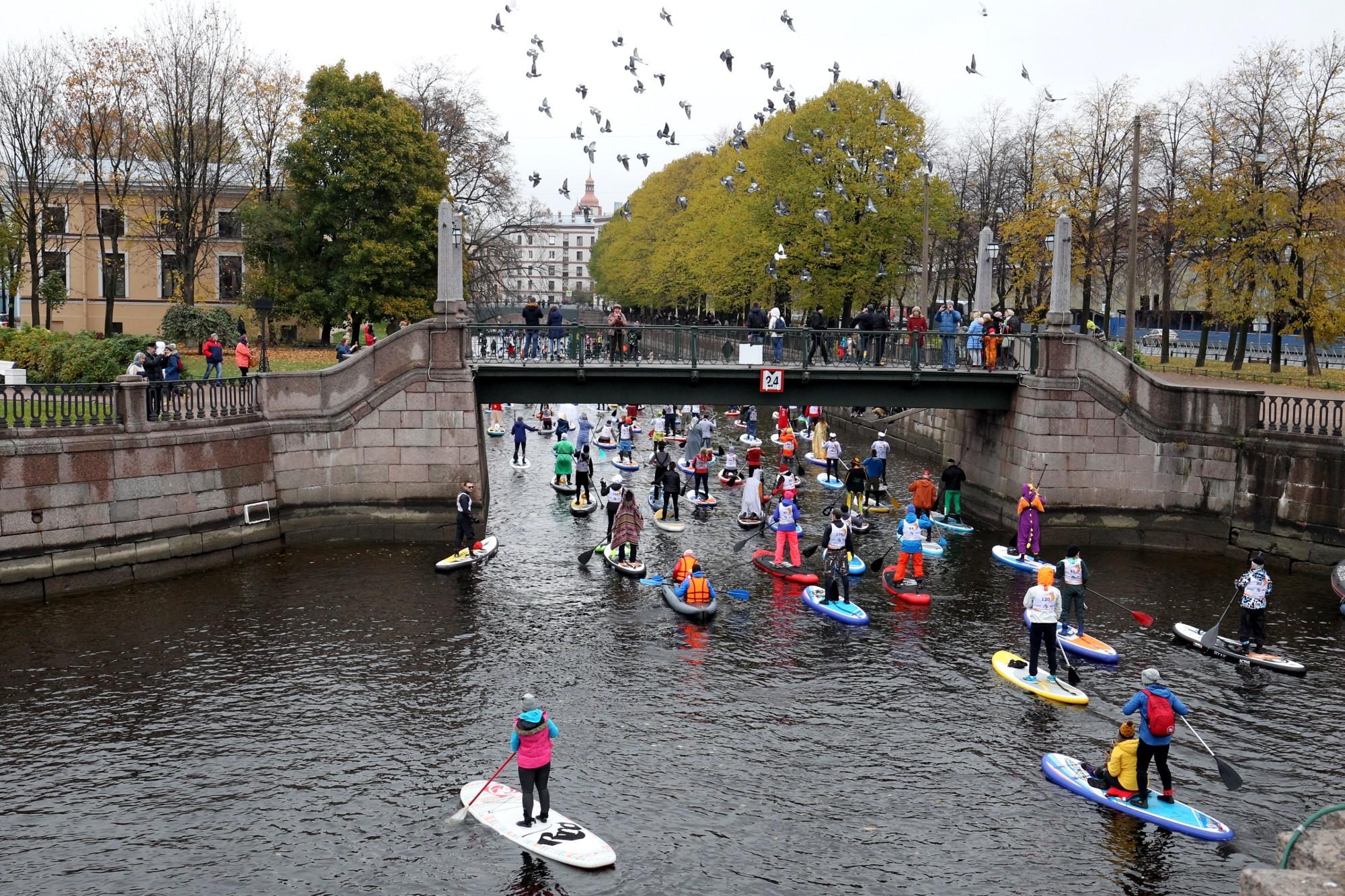 фестиваль sup серфинга канал грибоедова водные виды спорта птицы