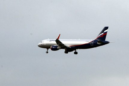 посадка самолёта в аэропорту Пулково авиакомпания Аэрофлот