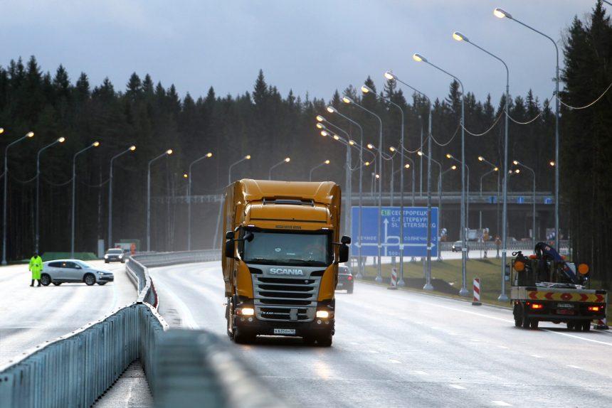 реконструкция автодорога трасса а-181 скандинавия грузовой автомобиль