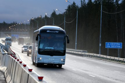 реконструкция автодорога трасса а-181 скандинавия автобус петербург - хельсинки