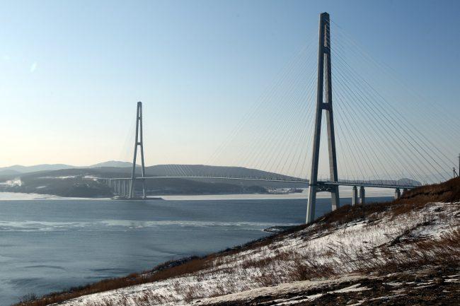 Русский мост через пролив Босфор Восточный Владивосток