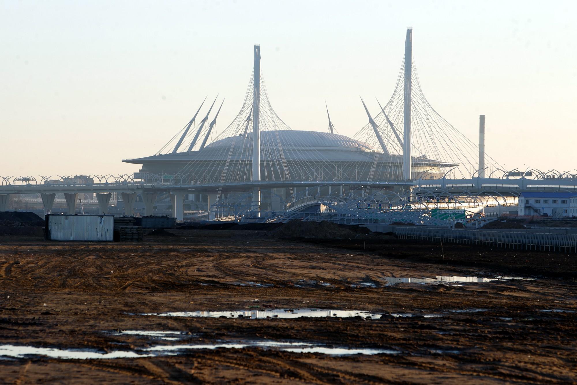 стадион на крестовском острове зенит-арена санкт-петербург арена западный скоростной диаметр зсд