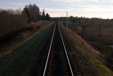 железная дорога поезд дальнего следования рельсы полотно движение