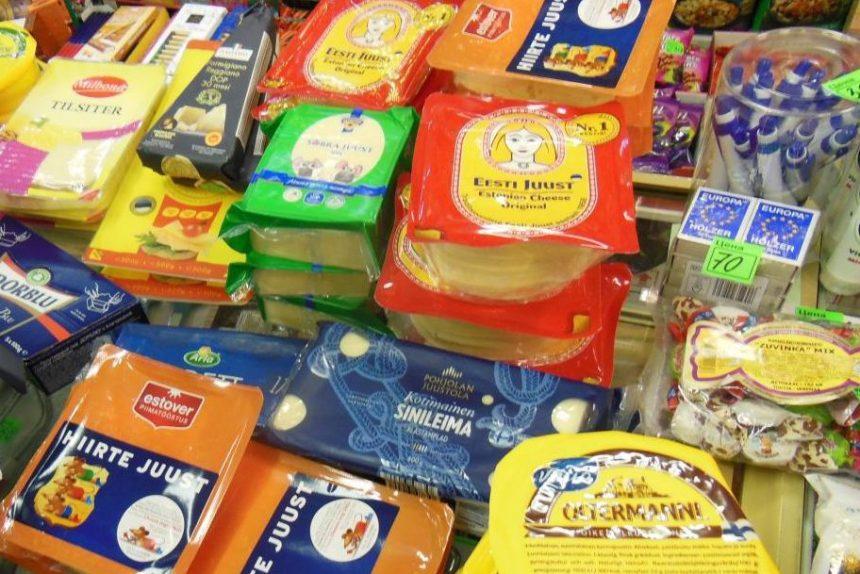 Мясо и сыр, санкционные продукты