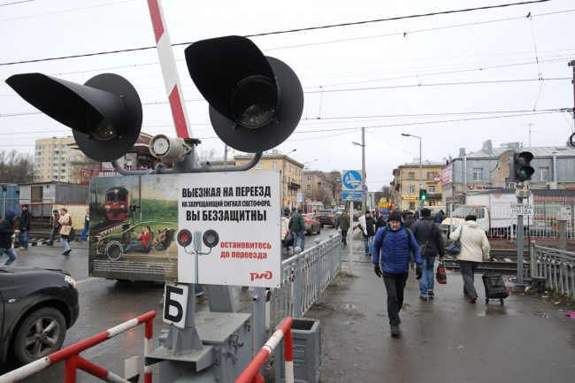 Железнодорожный переезд станция Удельная